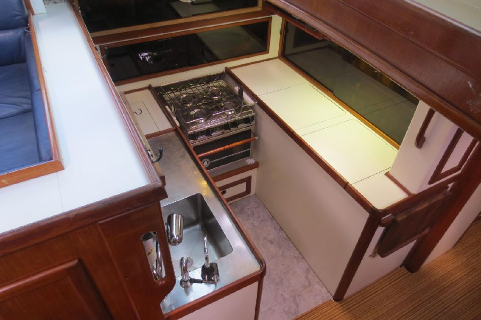 1984 Kanter Atlantic Pilothouse Cutter - Kanter 50 Down at Galley