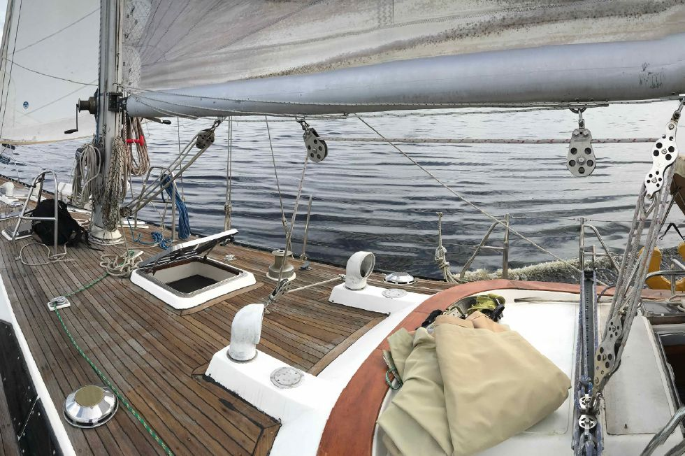 Kaufman 49 Under Sail on Deck