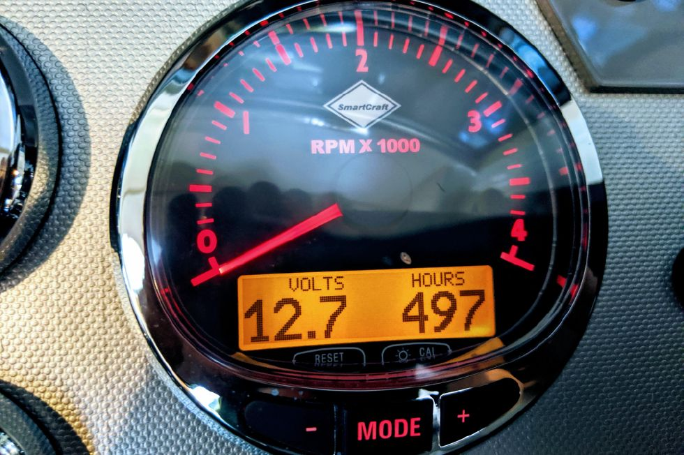 2007 Riviera 3600 Sport Yacht - Port Engine Hours as of 6/11/2019