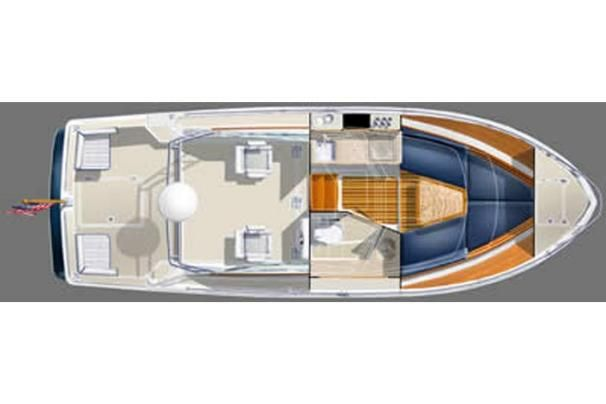 2008 Back Cove 26 - Manufacturer Provided Image: Interior Layout
