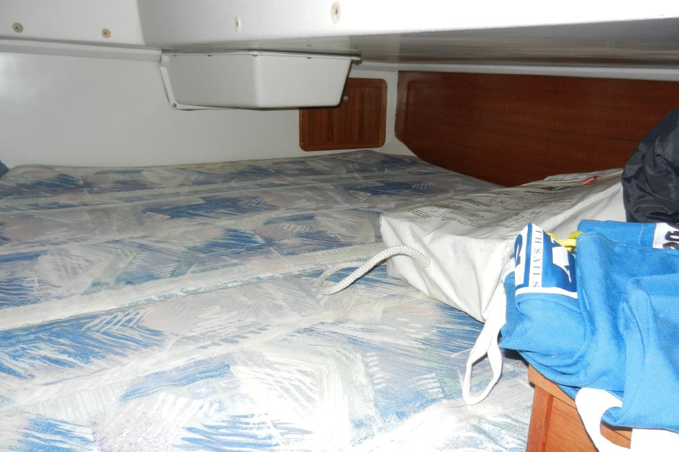 Large berth in aft cabin