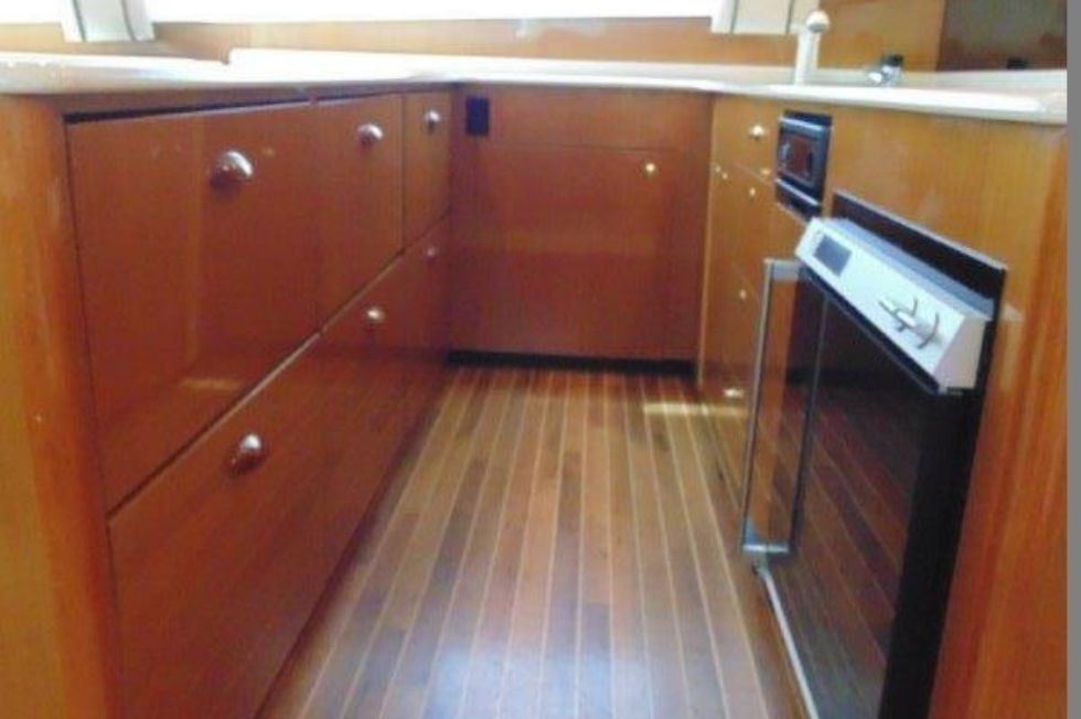 2001 Viking 61 Convertible - Galley