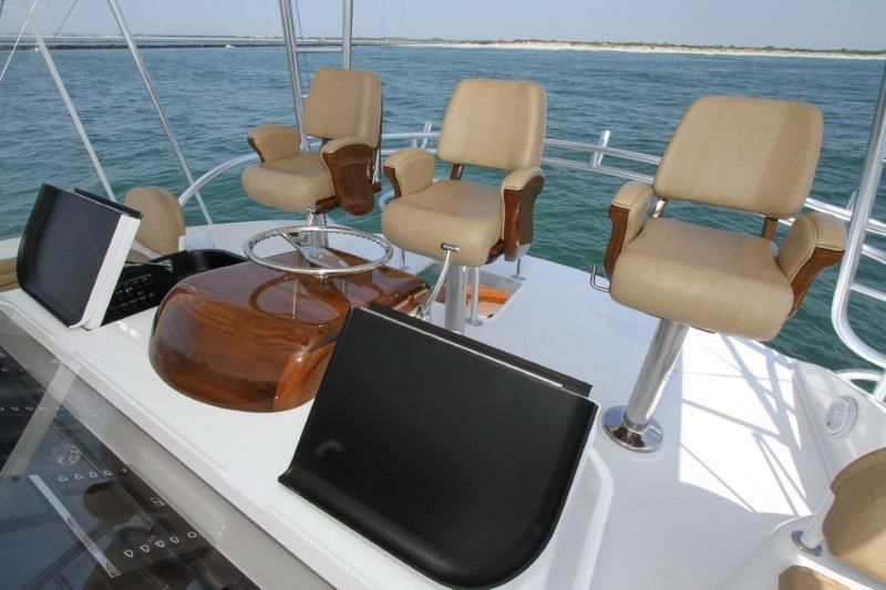 2019 Viking 62 Convertible - Deck 2 - Helm Seats