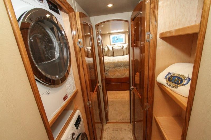 2019 Viking 62 Convertible - Companionway - Clothes Washer & Dryer & Closet