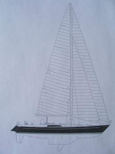 1986 Kaufman Cutter - Kaufman 49 Line Drawing