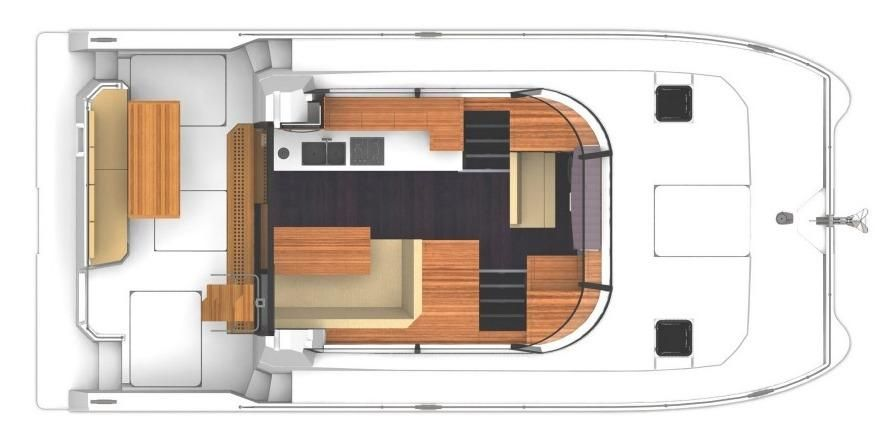 Manufacturer Provided Image: Fountaine Pajot MY 37 Upper Deck Layout Plan