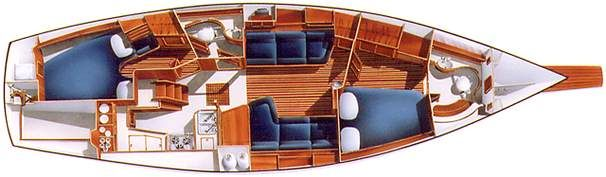 1994 Island Packet 40 - Layout