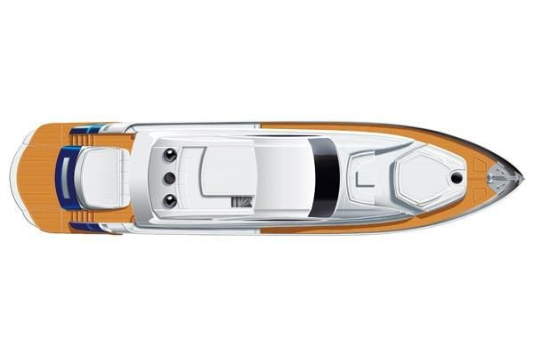 2007 Pershing 90 - Manufacturer Provided Image: Deck Layout
