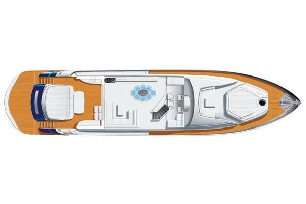 2007 Pershing 90 - Manufacturer Provided Image: Saloon Layout