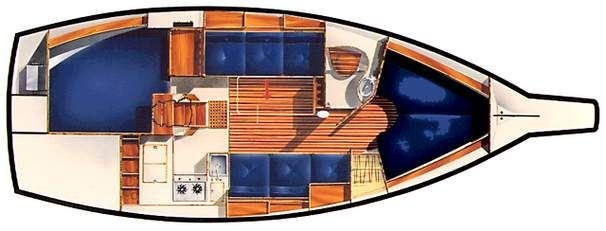 1996 Island Packet 29 Cutter - Layout