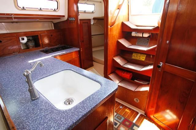 Pearson 36-2 Galley and Companionway