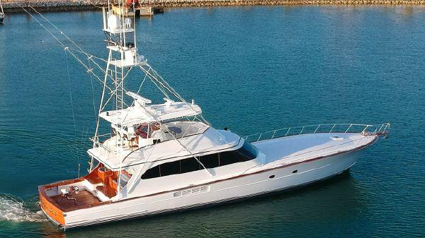 Merritt Custom Sportfish Yacht Aerial profile