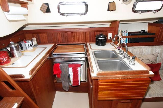Island Packet 31 Galley