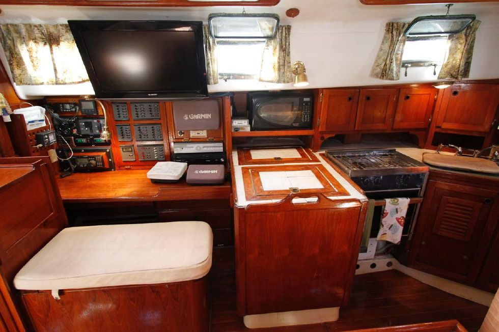 Bayfield 40 Ketch Nav Station n Galley