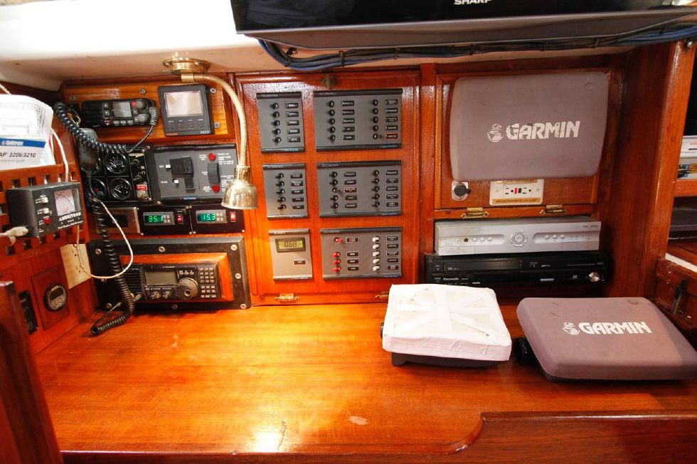 Bayfield 40 Ketch Nav Station