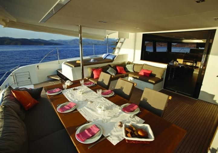 Manufacturer Provided Image: Fountaine Pajot Ipanema 58 Cockpit Table