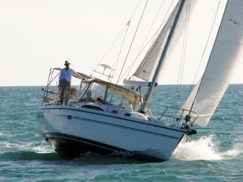 2009 Catalina 375 - Lila Jean on starboard tack