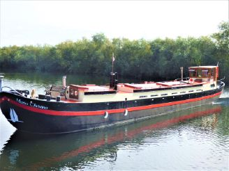 1902 Classic Dutch Restored Dry Goods Barge