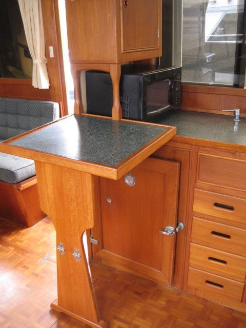1986 Grand Banks Classic - Galley counter extension