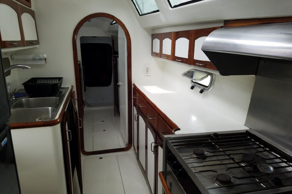 Grainger Catamaran Galley