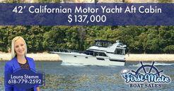 1987 Californian 42' Motor Yacht Aft Cabin
