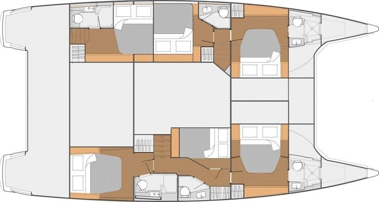 Manufacturer Provided Image: Fountaine Pajot SABA 50 6 Cabin Layout Plan