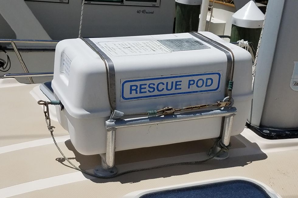 Island Packet Cat rescue pod