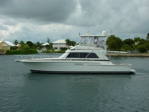 1987 Bertram Convertible W/ Half Tower 54 Boats for Sale - Edwards
