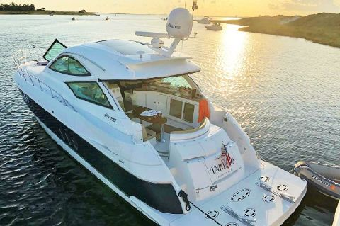 2013 Cruisers Yachts 540 Sports Coupe - Over the top view at anchor