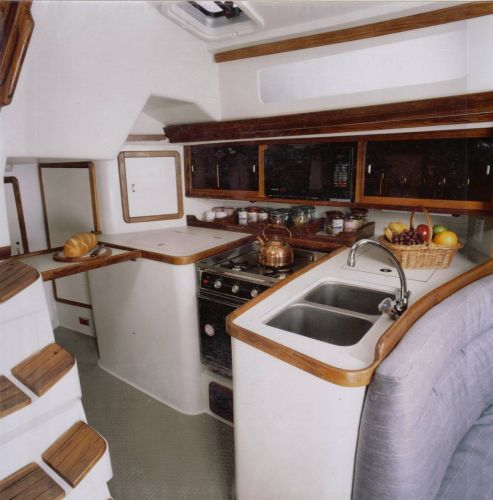 1992 Catalina Two Stateroom Sloop - Galley (sister ship)