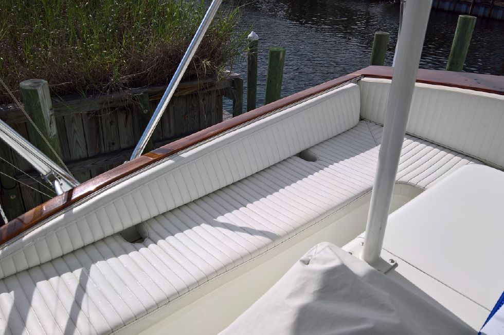 Port Side Of Flybridge Seating