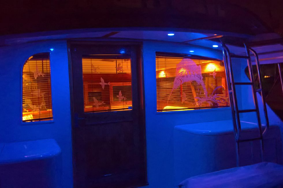 LED Lighting at Night on the Aft Deck