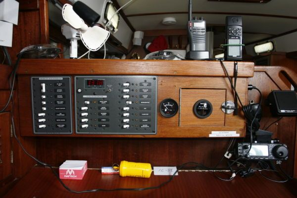 1977 Tartan Centerboard sloop - New Electrical Panel at Nav Station