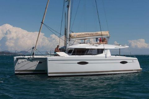 2013 Fountaine Pajot Helia 44 - Manufacturer Provided Image: Fountaine Pajot Helia 44 Side View