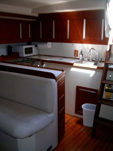 1989 Morgan Classic Sloop - Galley from salon