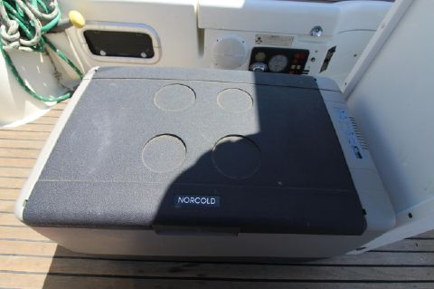1993 Beneteau Oceanis - Norcold standalone regrigeration unit in cockpit