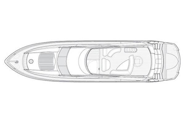 2006 Sunseeker 82 Yacht - Manufacturer Provided Image: Deck Layout
