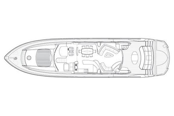2006 Sunseeker 82 Yacht - Manufacturer Provided Image: Saloon Layout