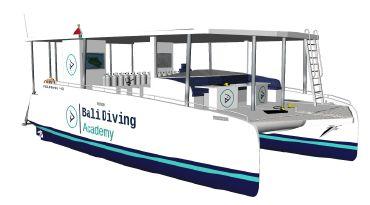 2020 Catamaran Solar Electric Dive Boat