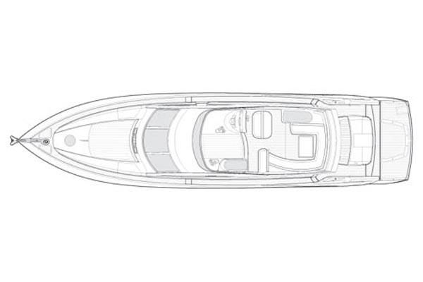 2006 Sunseeker Manhattan 66 - Manufacturer Provided Image: Deck Layout