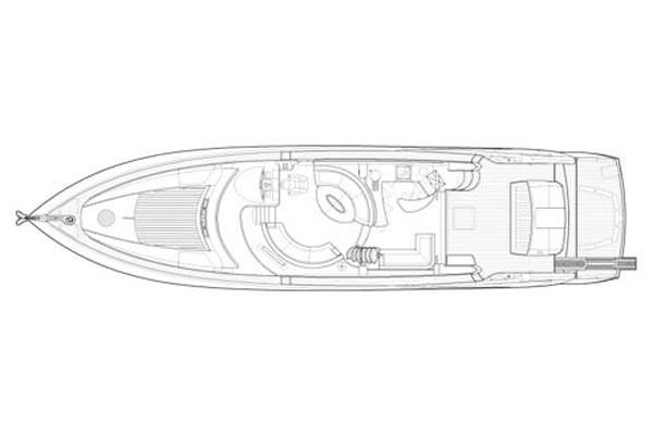 2006 Sunseeker Manhattan 66 - Manufacturer Provided Image: Saloon Layout