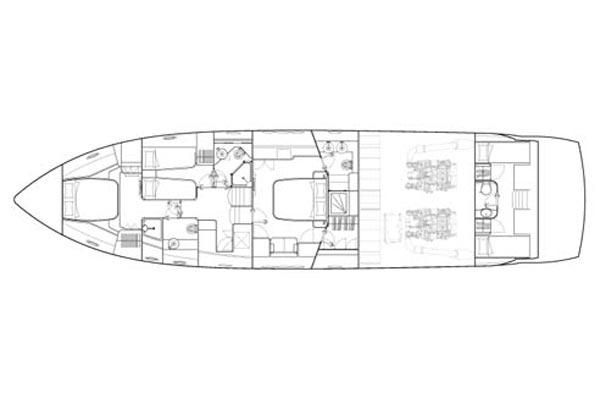 2006 Sunseeker Manhattan 66 - Manufacturer Provided Image: Accommodation Layout