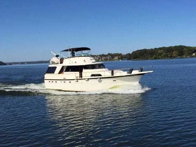 1977 Hatteras 53 Classic - Starboard Profile