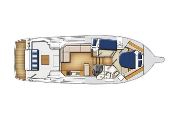 2007 Riviera 3600 Sport Yacht - Manufacturer Provided Image: Cabin Layout