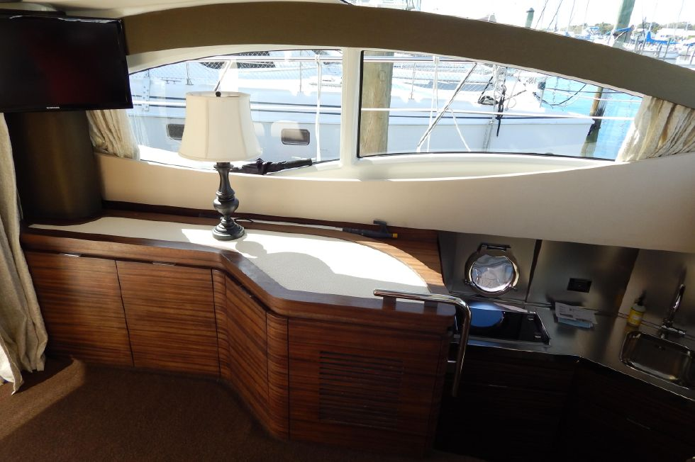 2012 Azimut 40S - TV and Galley Entry to Right