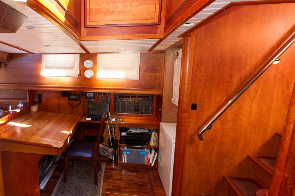 Sir Creeper, 1988 65' Sutton-designed steel schooner, offered by Edwards Yacht Sales