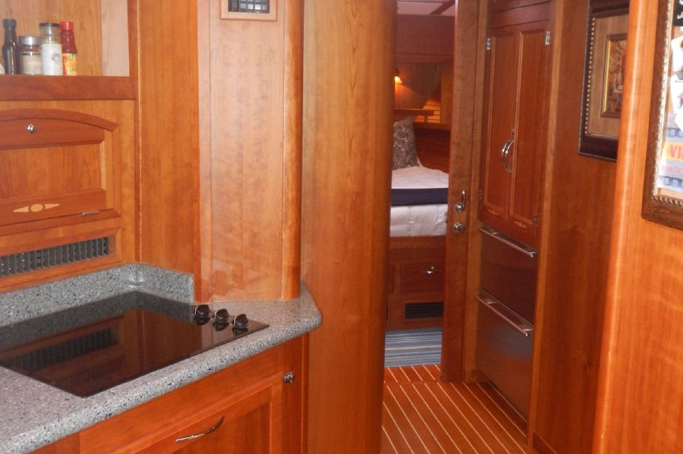 2007 Sabre 52 Salon Express - Hallway to Pantry, Guest Cabin, Laundry