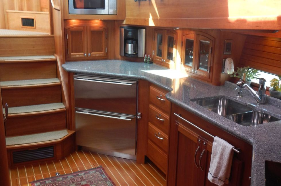 2007 Sabre 52 Salon Express - Galley Looking Aft