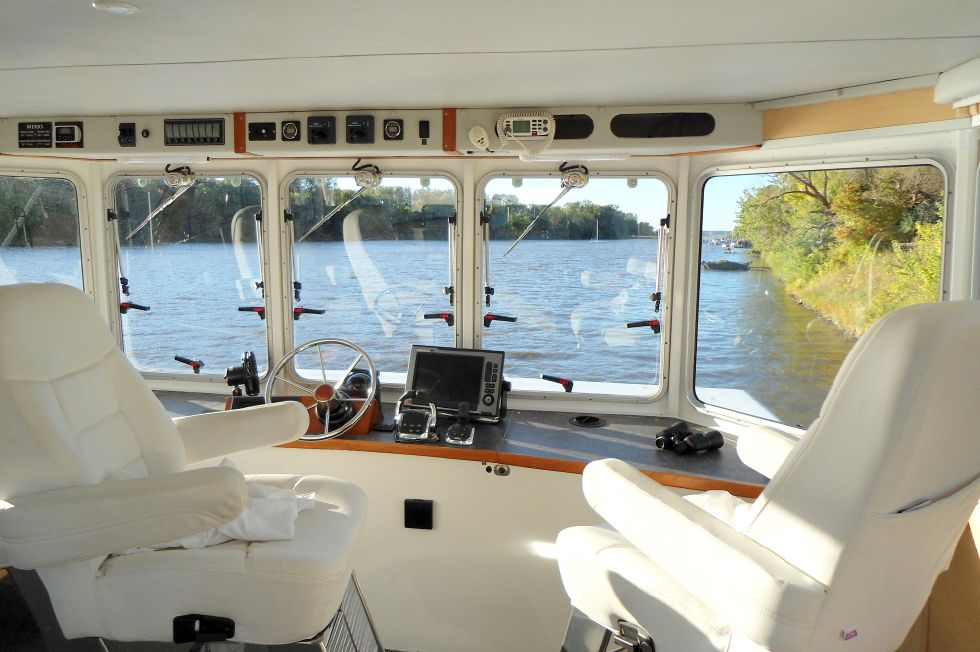 Flybridge Power Catamaran Helm Station