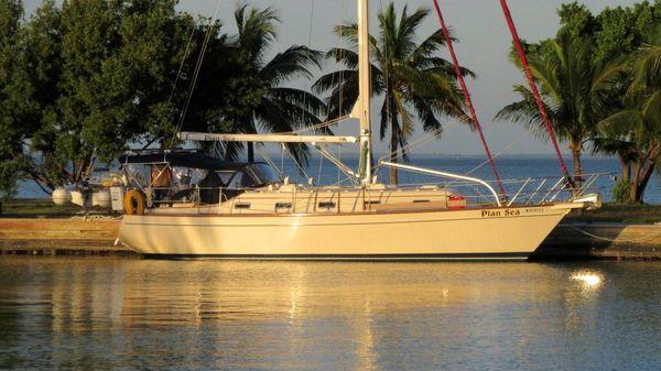 Island Packet 380 Sunrise on Plan Sea, Biscayne Bay, FL